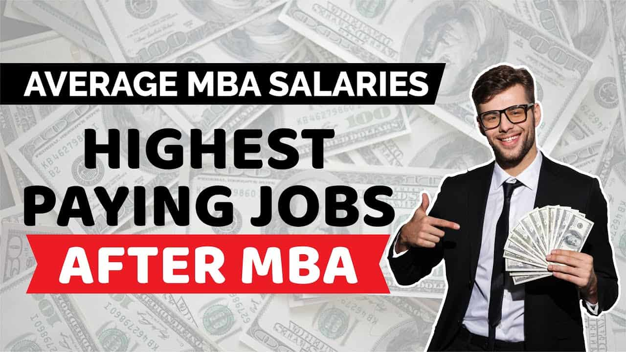 Highest paying jobs for MBA Graduates in India